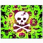 Deathrock Skull & Crossbones Canvas 8  x 10