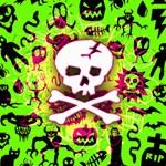 Deathrock Skull & Crossbones Canvas 20  x 20