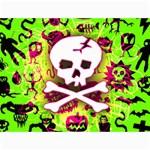 Deathrock Skull & Crossbones Canvas 18  x 24