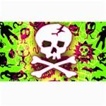 Deathrock Skull & Crossbones Canvas 40  x 72