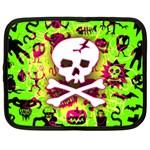 Deathrock Skull & Crossbones Netbook Case (Large)
