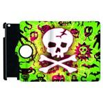 Deathrock Skull & Crossbones Apple iPad 2 Flip 360 Case