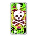 Deathrock Skull & Crossbones Samsung GALAXY S4 I9500/ I9505 Case (White)