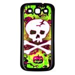 Deathrock Skull & Crossbones Samsung Galaxy S3 Back Case (Black)