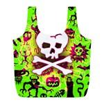 Deathrock Skull & Crossbones Full Print Recycle Bag (L)