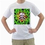 Deathrock Skull & Crossbones Men s T-Shirt (White)