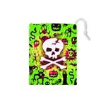 Deathrock Skull & Crossbones Drawstring Pouch (Small)