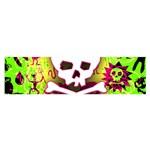 Deathrock Skull & Crossbones Satin Scarf (Oblong)