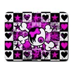 Emo Scene Girl Skull Small Mousepad