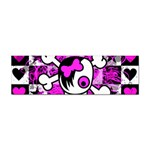 Emo Scene Girl Skull Sticker (Bumper)