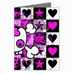 Emo Scene Girl Skull Greeting Cards (Pkg of 8)