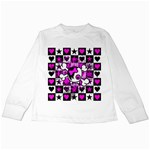 Emo Scene Girl Skull Kids  Long Sleeve T-Shirt