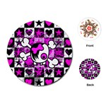 Emo Scene Girl Skull Playing Cards Single Design (Round)
