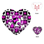 Emo Scene Girl Skull Playing Cards Single Design (Heart)