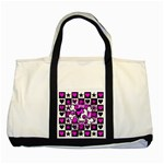 Emo Scene Girl Skull Two Tone Tote Bag