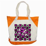Emo Scene Girl Skull Accent Tote Bag