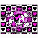 Emo Scene Girl Skull Canvas 8  x 10