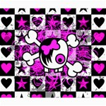 Emo Scene Girl Skull Canvas 20  x 24