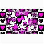 Emo Scene Girl Skull Canvas 40  x 72