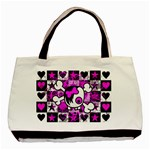 Emo Scene Girl Skull Basic Tote Bag (Two Sides)