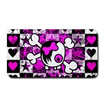 Emo Scene Girl Skull Medium Bar Mat