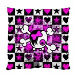 Emo Scene Girl Skull Standard Cushion Case (Two Sides)