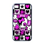 Emo Scene Girl Skull iPhone 4 Case (Black)