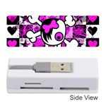 Emo Scene Girl Skull Memory Card Reader (Stick)