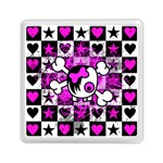 Emo Scene Girl Skull Memory Card Reader (Square)