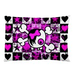 Emo Scene Girl Skull Pillow Case (Two Sides)
