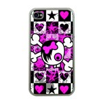 Emo Scene Girl Skull iPhone 4 Case (Clear)