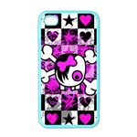Emo Scene Girl Skull iPhone 4 Case (Color)