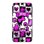 Emo Scene Girl Skull iPhone 4/4s Seamless Case (Black)