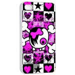 Emo Scene Girl Skull iPhone 4/4s Seamless Case (White)