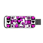 Emo Scene Girl Skull Portable USB Flash (Two Sides)