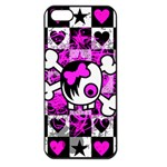 Emo Scene Girl Skull iPhone 5 Seamless Case (Black)