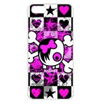 Emo Scene Girl Skull iPhone 5 Seamless Case (White)