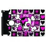 Emo Scene Girl Skull Apple iPad 2 Flip 360 Case