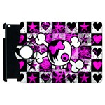 Emo Scene Girl Skull Apple iPad 3/4 Flip 360 Case