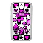 Emo Scene Girl Skull Samsung Galaxy Grand DUOS I9082 Case (White)