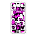 Emo Scene Girl Skull Samsung Galaxy S3 Back Case (White)