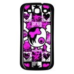 Emo Scene Girl Skull Samsung Galaxy S3 Back Case (Black)