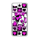 Emo Scene Girl Skull iPhone 5C Seamless Case (White)