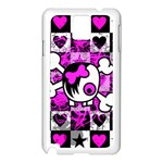 Emo Scene Girl Skull Samsung Galaxy Note 3 N9005 Case (White)