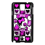 Emo Scene Girl Skull Samsung Galaxy Note 3 N9005 Case (Black)