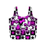 Emo Scene Girl Skull Full Print Recycle Bag (S)