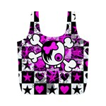 Emo Scene Girl Skull Full Print Recycle Bag (M)