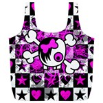Emo Scene Girl Skull Full Print Recycle Bag (XL)