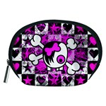 Emo Scene Girl Skull Accessory Pouch (Medium)