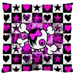 Emo Scene Girl Skull Large Flano Cushion Case (One Side)